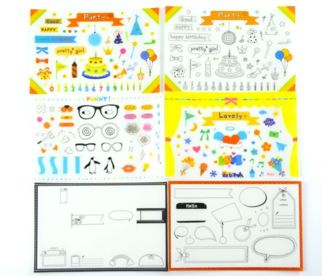 6 sheets Birthday Party Photo Albums Craft scrapbooking Planner stickers