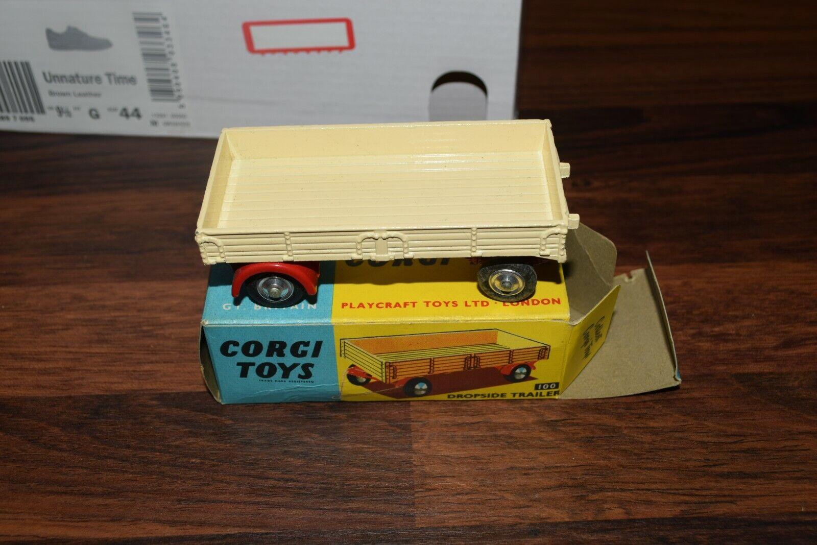 CORGI 100 DROPSIDE TRAILER mint ex shop stock in original BOX