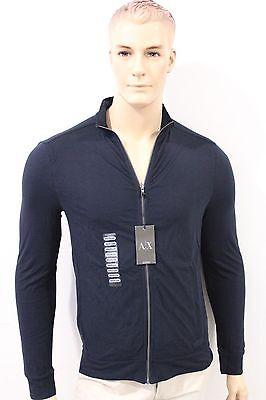 New Armani Exchange A X Men's Slim/Muscle Fit Black Jacket Coats Full Zip NWT