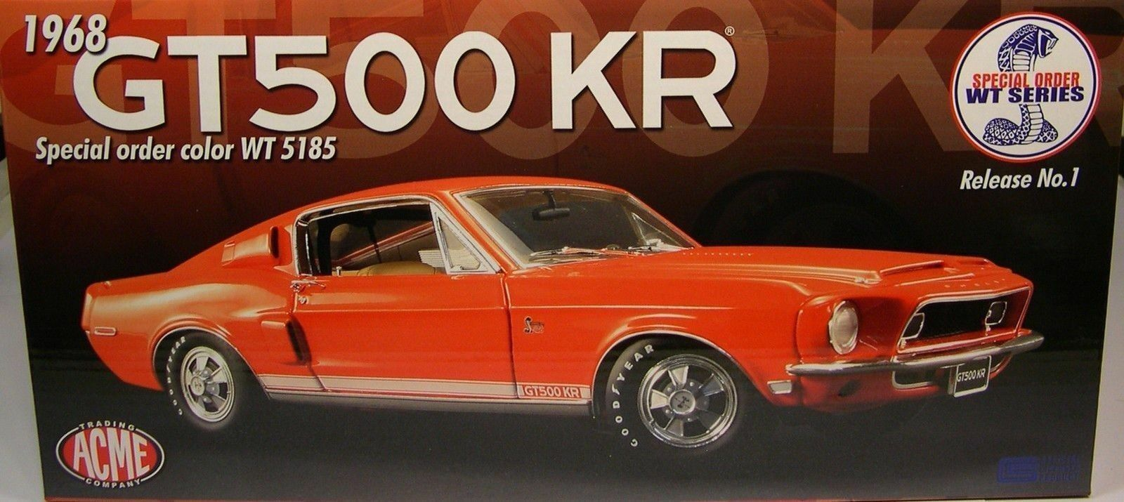 1 18 GMP ACME 1968 Ford Mustang Shelby GT500KR WT 5185 orange Red A 1801805