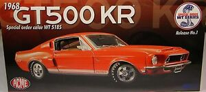 1:18 Gmp / Acme 1968 Ford Mustang Shelby Gt500kr Wt 5185 Orange Rouge A