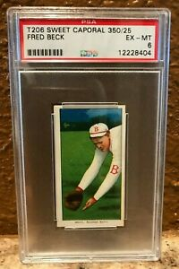 1909-11 T206 Sweet Caporal 350/25 Fred Beck PSA 6 Pop 1/2^ Brand/Series/Factory