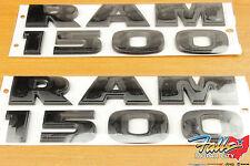 Dodge Ram 1500 Black Logo Lettering Nameplate Emblem Badge Set of Two Mopar OEM