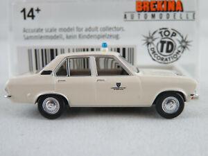 Brekina-20374-Opel-Ascona-a-sedan-1973-034-policia-Wiesbaden-034-1-87-h0-nuevo-en-el-embalaje