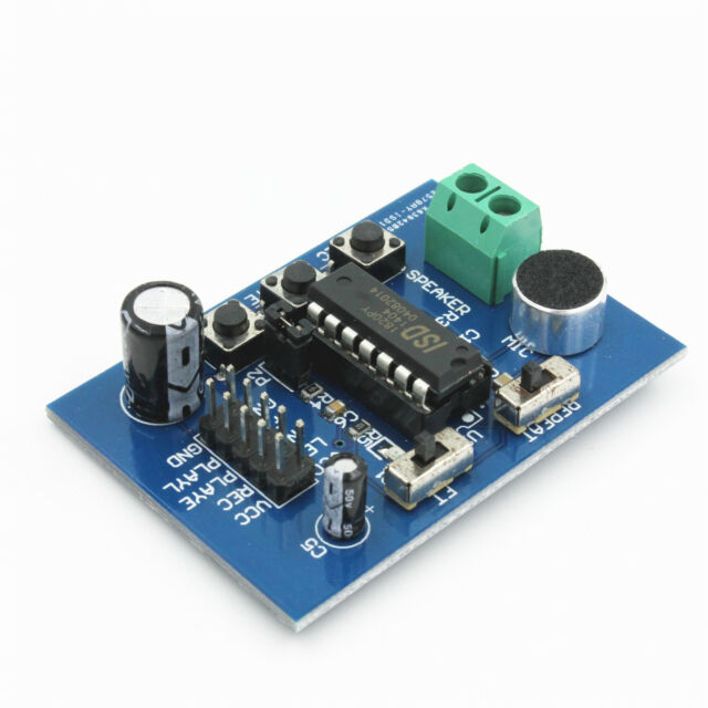 ISD1820 Voice Board Voice Recorder Playback Module Microphone on-Board
