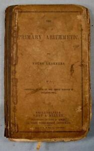 The-Primary-Arithmetic-Young-Learners-Book-1844-J-Rhoads-AS-IS-MISSING-PAGES-O