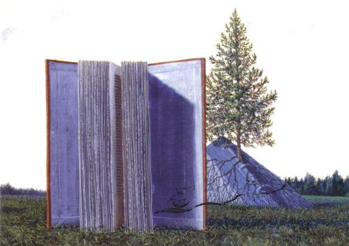 A Book Tree Toda Katsuhisa Kunstpostkarte