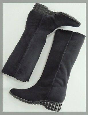 buying cheap 100% genuine 100% quality ANNE KLEIN NY Black Suede/Fur Lined Winter Boots-Knee or Ankle 6.0 ...