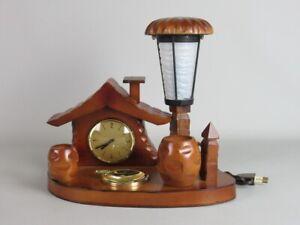 PINO-SCURATI-SCULTURA-LEGNO-ANNI-50-60-CON-LAMPADA-E-OROLOGIO