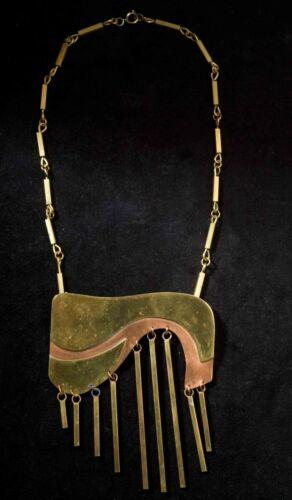 PEC Vintage 1970's Brutalist Artisan Necklace