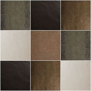 Image Is Loading Faux Leather Vinyl Fabric Animal Skin Lizard Upholstery
