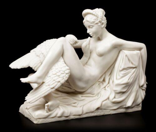 Leda et le cygne personnage blanc-Dekofigur Grec Mythologie statue