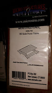 HO 1/87 Micro Structures Picnic Table # 944 NIP Photo Etched Brass