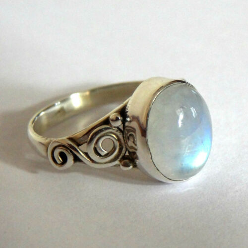 925 Sterling Silver Ring Rainbow Moonstone Ring,Moonstone Ring Size 4-13 US