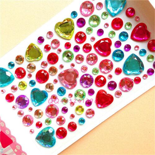 Auto Adhesivo Brillo Corazón Estilo Cristal Joya Diamante Pegatina Rhinestone Jp