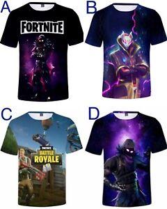 Kids Boys Men 3D print T shirt Sport Nylon Top Fortnite Raven super soft 6-20y
