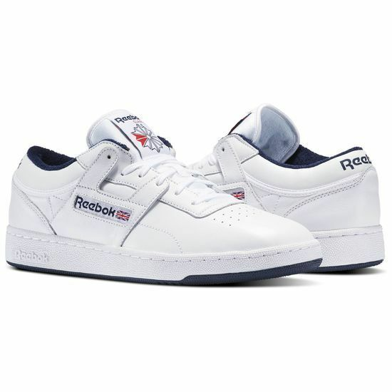 Reebok Classic Mens Workout Plus Sneakers Retro Vintage Trainer Leather White