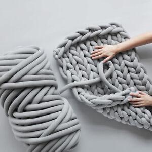 AU-250g-Thick-Bulky-Wool-Yarn-Soft-Chunky-DIY-Hand-Knitting-Scarf-Hat-Blanket-S