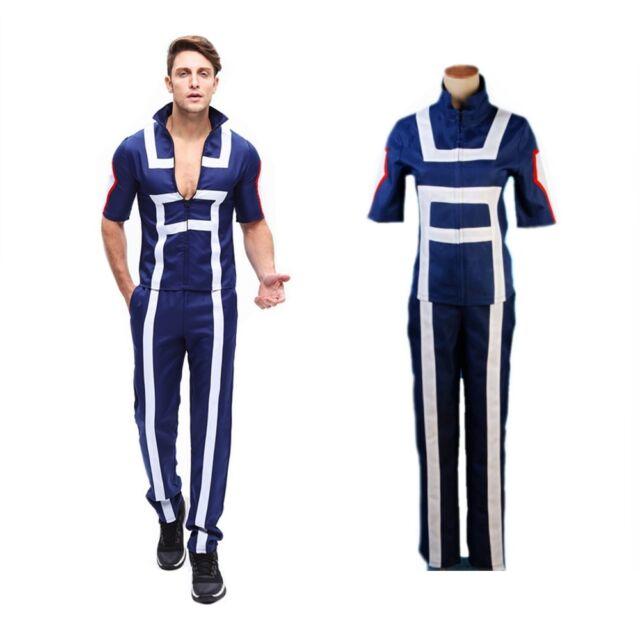 My Boku No Hero Academia Kohei Horikoshi Cosplay Costume Gym Tops Pants Unisex