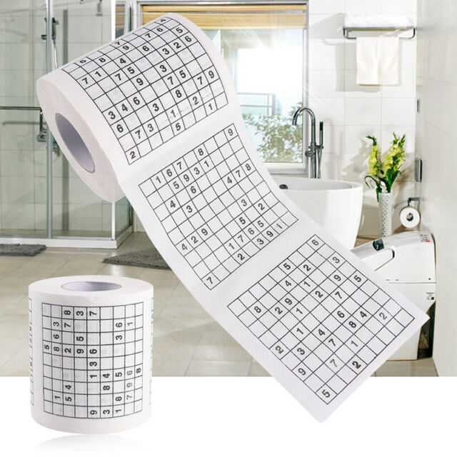 Novelty Funny Number Sudoku Printed Toilet Paper Bath Tissue Gift1 Roll 2 Ply EP
