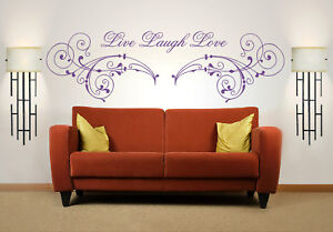 Live Laugh Love Quote, Wall Art Stickers Decal Murals, Bedroom ...