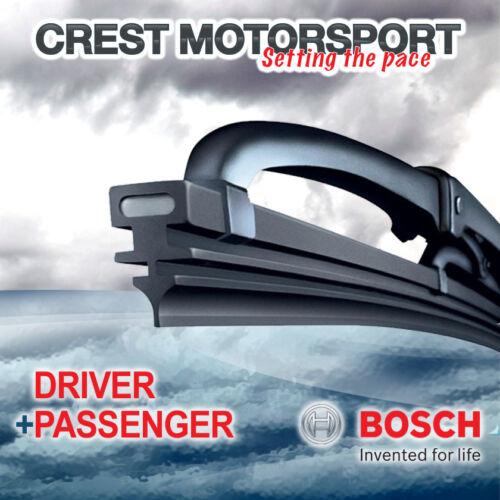 "BOSCH Super Plus Front Driver//Passenger Windscreen//Window Wiper Blades 20/""//20/"""
