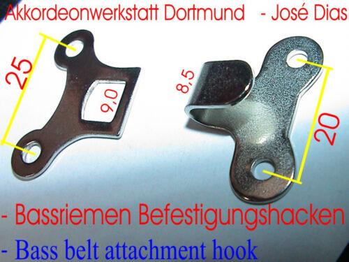 accordion Untere Befestigung,für Akkordeon Bassriemen Bass Belt metal hook F+M