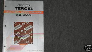 image is loading 1992-toyota-tercel-electrical-wiring-diagram -troubleshooting-manual-