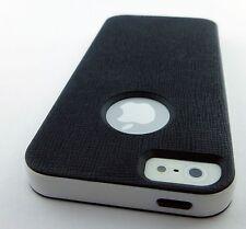 BLACK PREMIUM LIGHTWEIGHT HARD TPU GEL SKIN CASE COVER APPLE IPHONE 5 5S SE