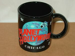 Vintage-1991-Collectible-Planet-Hollywood-Chicago-Publicite-Cafe-Tasse