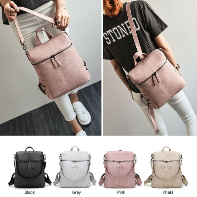 Women Backpack Shoulder Bag Rucksack Leather Satchel Travel School College Bags