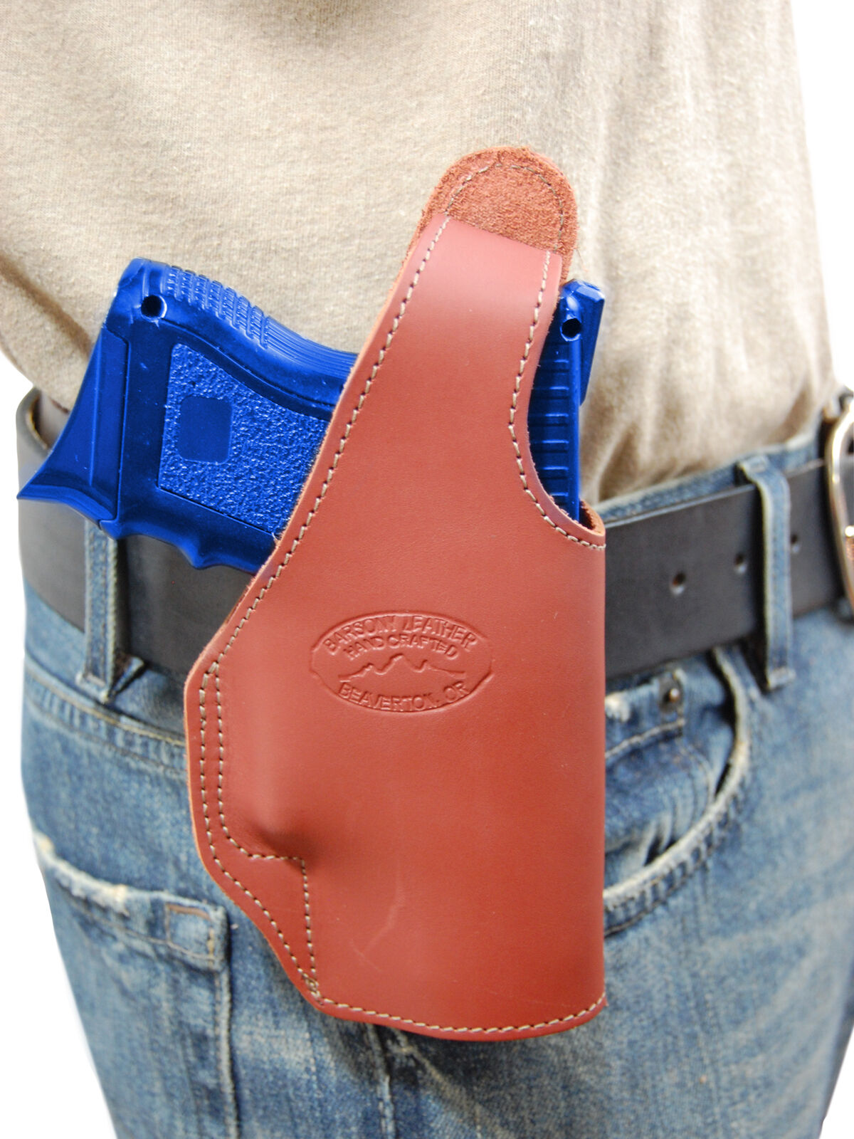 New Barsony Burgundy Leder OWB Holster Walther Compact, Sub-Compact 9mm 40 45