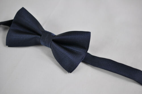New Father Son Match Navy Blue SILK SATIN PRETIED Bow Tie Bowtie Wedding Party
