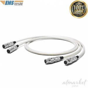 OYAIDE-AV-cable-TUNAMI-TERZO-XX-V2-1-3m-White-XLR-interconnect-from-JAPAN