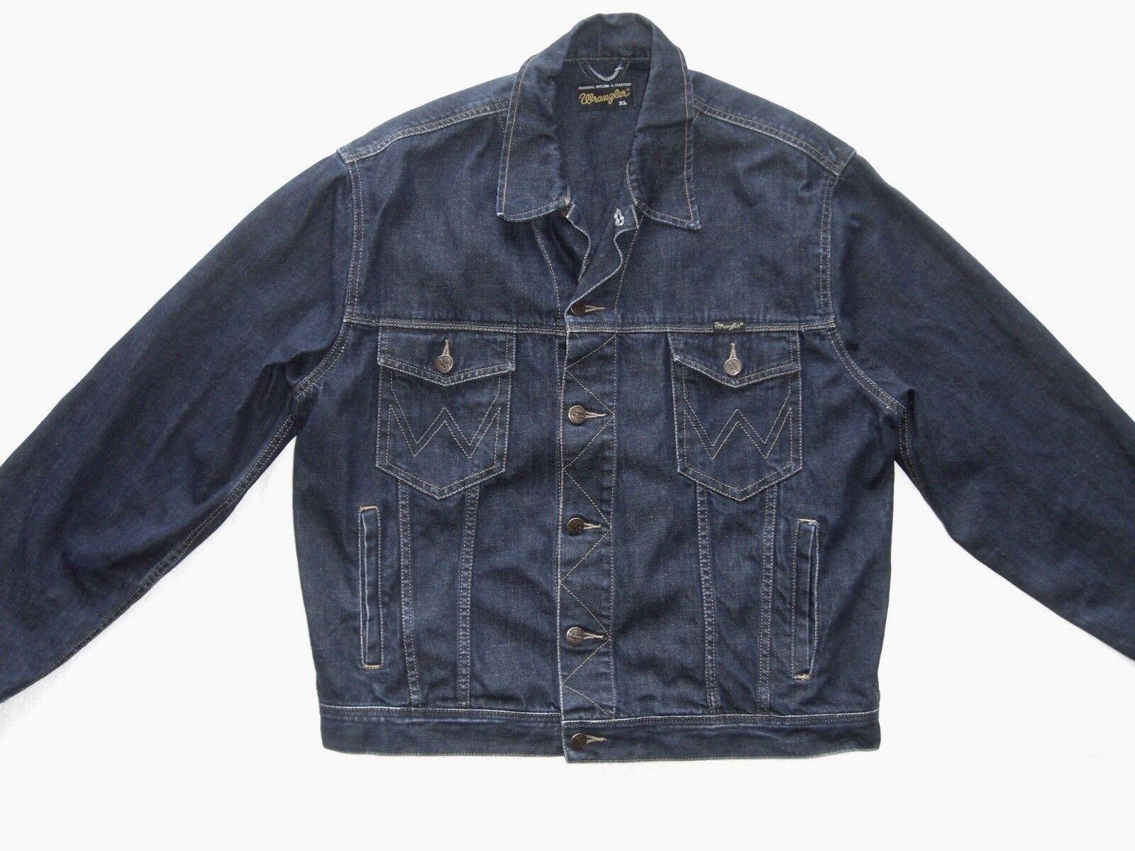 WRANGLER Uomo stato Giacca Jeans Taglia XL modello AUTHENTIC Western stato Uomo come nuovo 66b86f