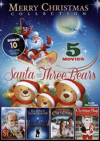 Merry Christmas Collection (DVD 5-FILMS) SANTA & THE THREE BEARS NO CASE NO ART