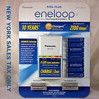 Panasonic Eneloop Rechargeable Battery Kit W/8 Aa 4 Aaa Plus Charger