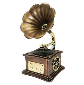 Bluetooh-Vintage-Retro-Classic-Gramophone-Phonograph-Stereo-Speaker-Sound-3-5mm