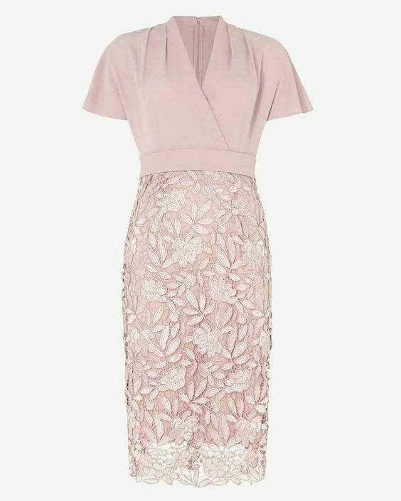 New Phase Eight Morika Pink Lace Dress Sz rrp