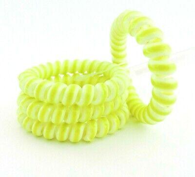 4 Stück Spiral Haargummis Telefonkabel Haarbinder Zopfgummi grün SOLIDA