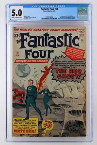 Fantastic-Four-13-Marvel-1963-CGC-5-0-1st-Appearance-of-the-Red-Ghost-and-the