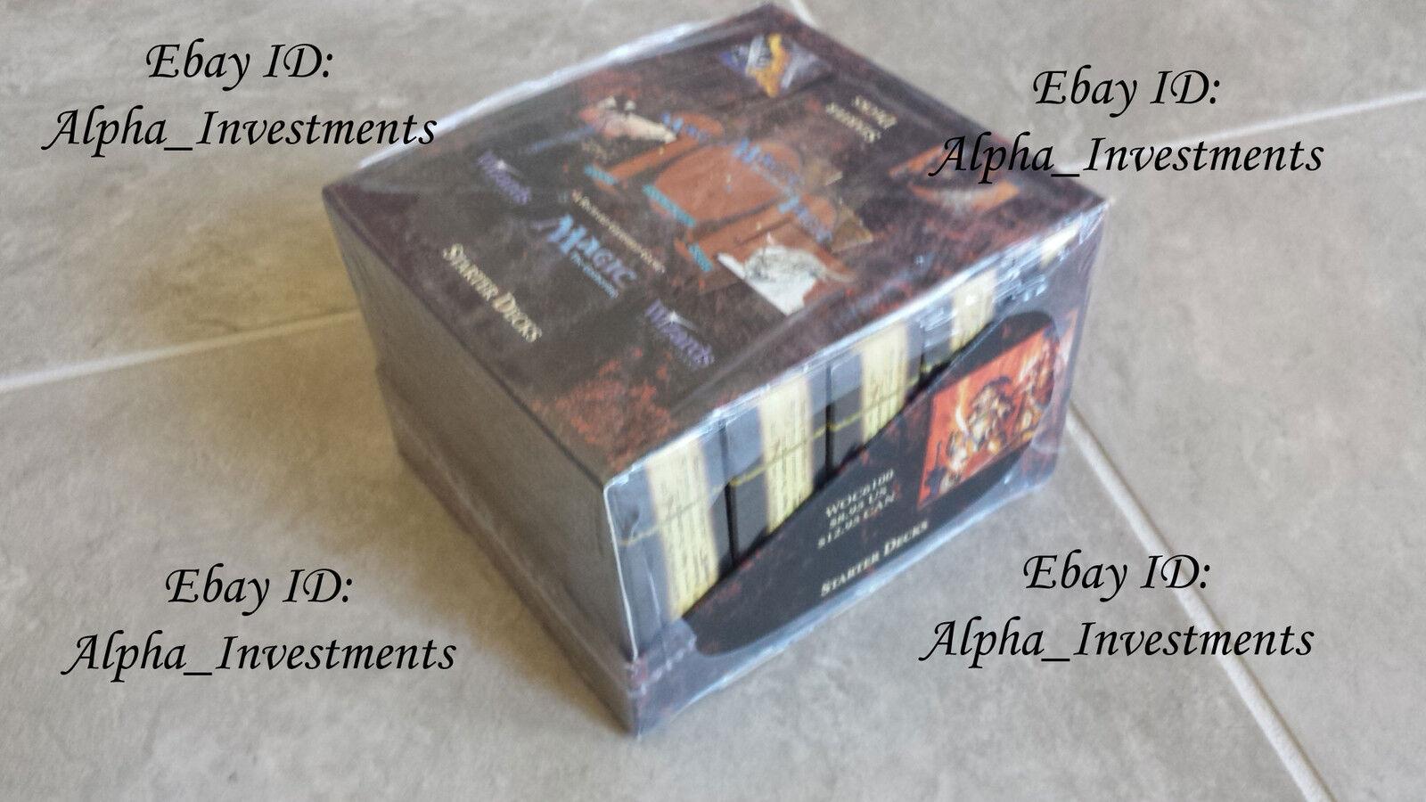 Magic The Gathering 4ª edición Starter Deck Caja Sellada De Fábrica Nuevo Mtg 10 Mazos