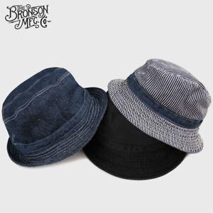 2601ca39fada2 2019 Bronson Vintage Bucket Hat Summer Outdoor Retro Men s Denim Sun ...