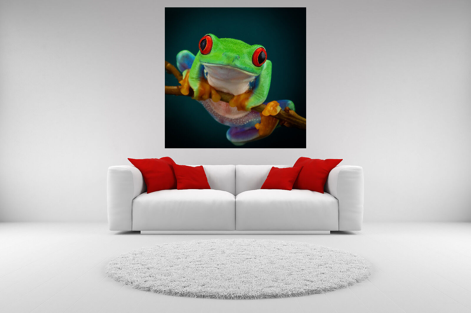 rot-Eyed Tree Frog Portrait Canvas Picture Giclee Print Unframed Art Home Decor