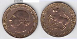 10000 Mark 1923 Vom Stein Notmünze Westfalen Pferd Horse Hippo (d228) SorgfäLtige FäRbeprozesse
