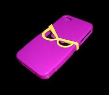 NEW SOFT PLASTIC PURPLE GLASSES APPLE IPHONE 4 4S CASE SUPER FAST SHIPPING