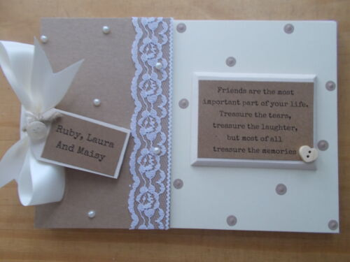 Personalised Friends Quote Scrapbook Memory Book Birthday Gift QUICK POSTAGE