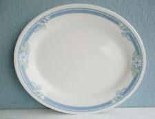 """1 CORELLE Jasmine OVAL PLATTER Plate Tray 9 1/2"""" Blue Green White Floral Blossom"""