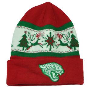 NFL-New-Era-Fillz-Jacksonville-Jaguars-Cuffed-Knit-Beanie-Toque-Christmas-Theme