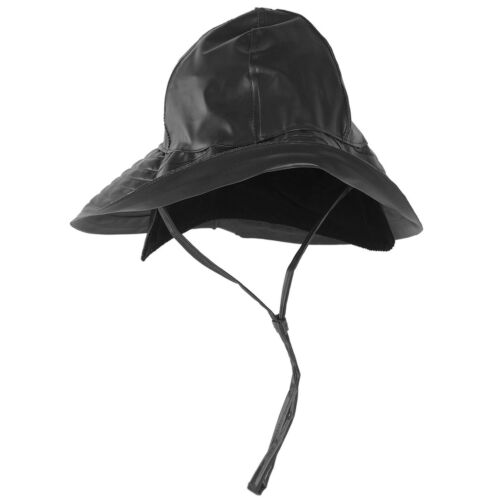 MIL-TEC SOUTHWESTERN RAIN HAT WATERPROOF NECK PROTECTION OUTDOOR STORM CAP BLACK